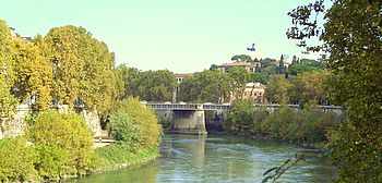 views from aventine up the tiber river