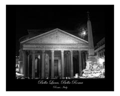 the pantheon at nighttime