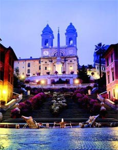 spanish steps in rome italy map Spanish Steps Hotels Map Attractions Transport