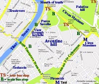 aventine rome italy map