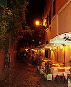 rome restaurants trastevere