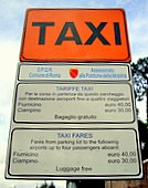 rome taxi sign