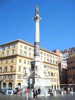 colonna dell'immacolata at piazza di spagna