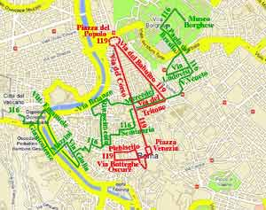 public transportation in rome italy tram route