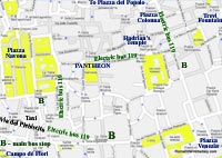 street map rome italy pantheon