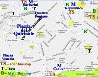 street map rome italy quirinal repubblica area