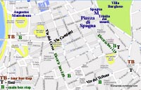 street map rome italy spanish steps