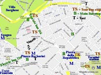 street map rome Via Veneto