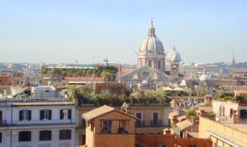 views from the trinita dei monti spanish steps