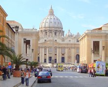 vatican city rome and tourist buses