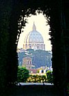 view of st peters through the keyhole